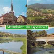Mittelsinn im Spessart postcard