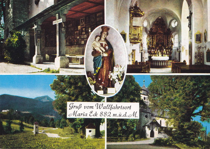 """Greetings from place of pilgrimage Maria Eck"""