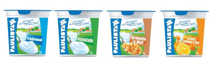 Paulista brand yoghurts