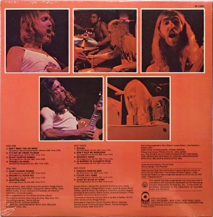 Allman Brothers Band – Beginnings album art 3