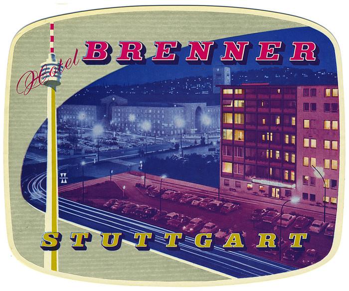Hotel Brenner Stuttgart luggage label