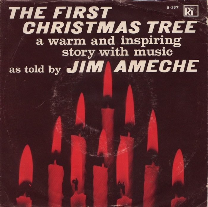 "Jim Ameche – ""The First Christmas Tree"" single cover"