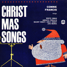 Connie Francis – <cite>Christmas Songs</cite> album art