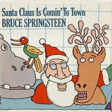 "Bruce Springsteen – ""Santa Claus Is Comin'To Town"" single cover"