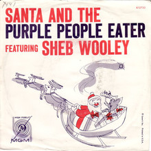 "Sheb Wooley – ""Santa And The Purple People Eater""<span class=""nbsp"">&nbsp;</span>/ ""Star Of Love"" single cover"