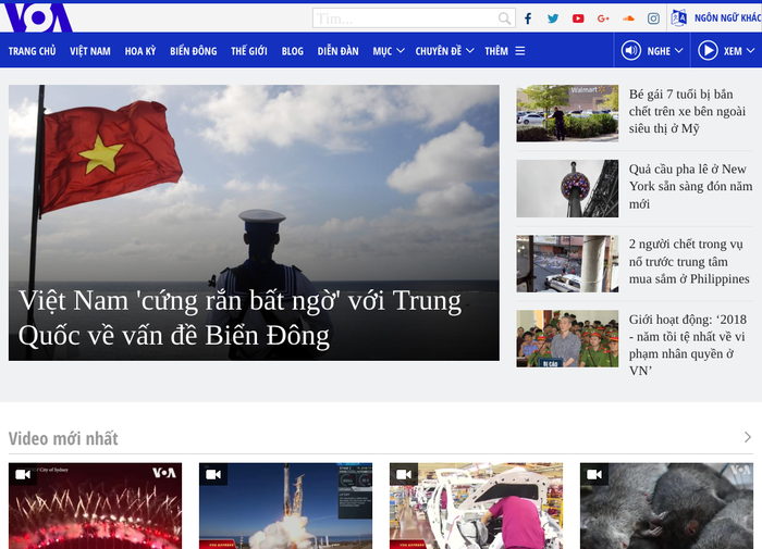 Vietnamese website, with typography using Open Sans & Tinos