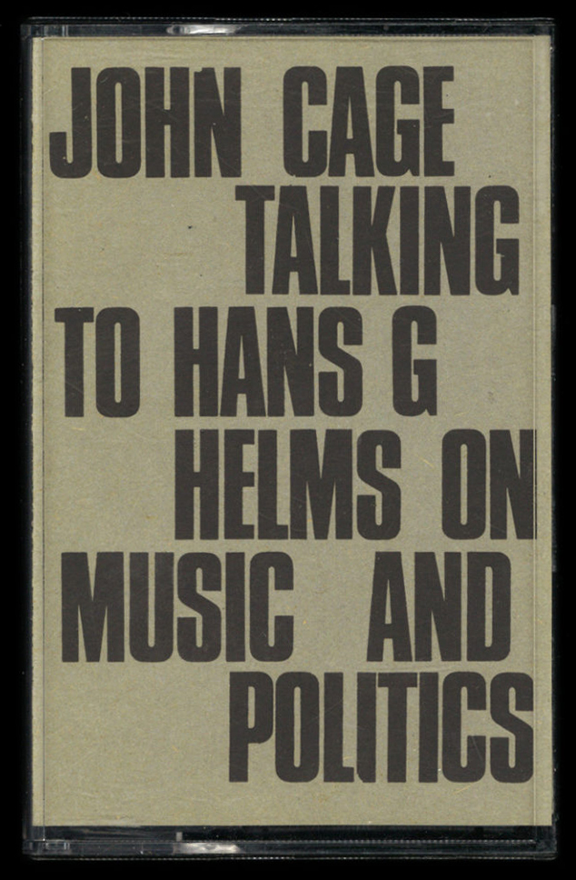 John Cage Talking to Hans G Helms on Music and Politics 1