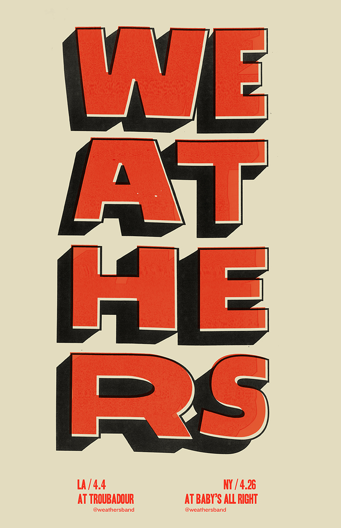 Weathers gig posters 2