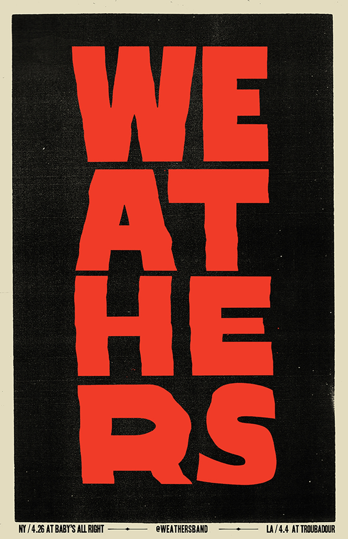 Weathers gig posters 3