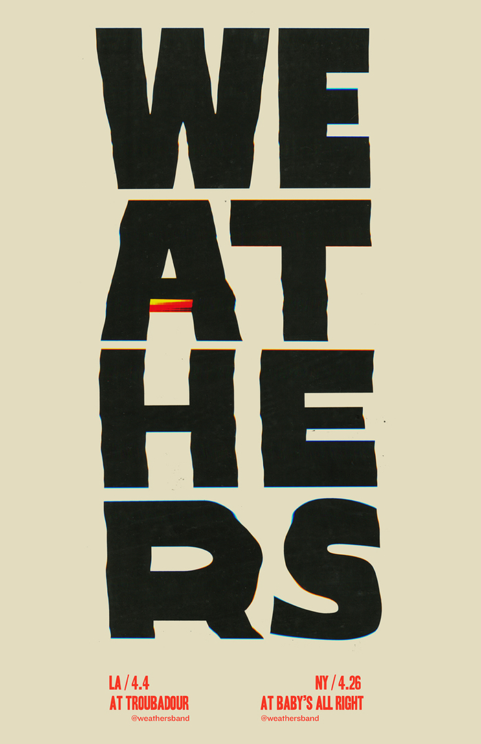 Weathers gig posters 4