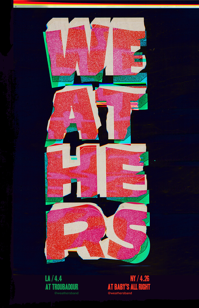 Weathers gig posters 1