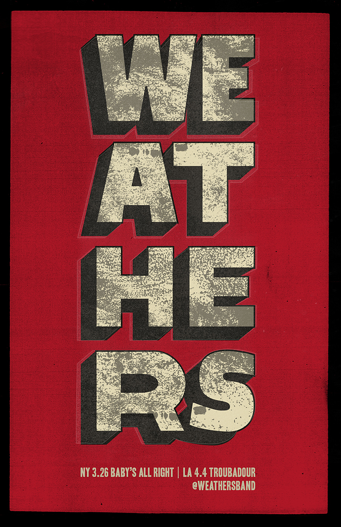 Weathers gig posters 5