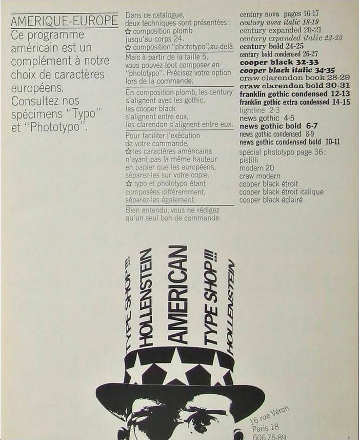 Hollenstein American Type Shop 2