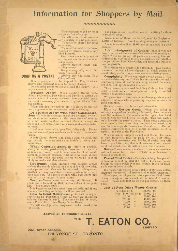 Eaton's Spring and Summer Catalogue No. 27 2