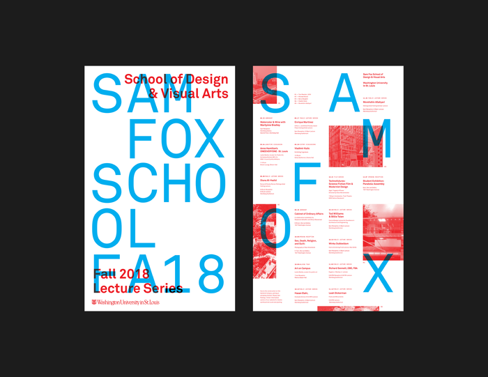 Fall 2018 lecture series poster, Sam Fox School of Design & Visual Arts 2