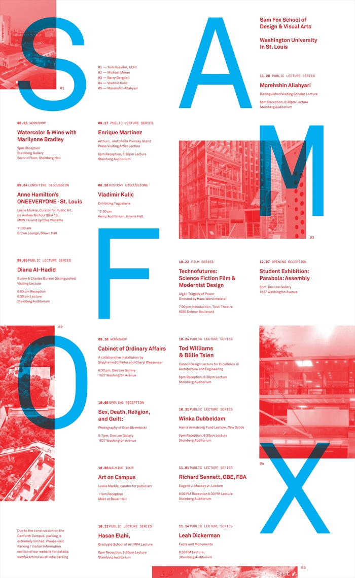 Fall 2018 lecture series poster, Sam Fox School of Design & Visual Arts 4