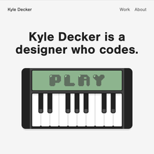 Kyle Decker portfolio