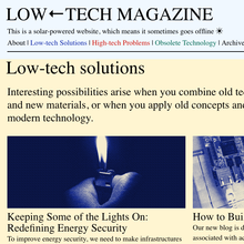 <cite>Low←tech Magazine </cite>website
