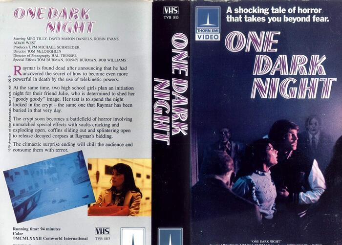 The VHS packaging replaces Revue and Helvetica with Enric Crous-Vidal's  and . With the reversed colors, the pattern in Flash looks less like wood and more like zombie flesh—compare to the skinned hands in the image above.
