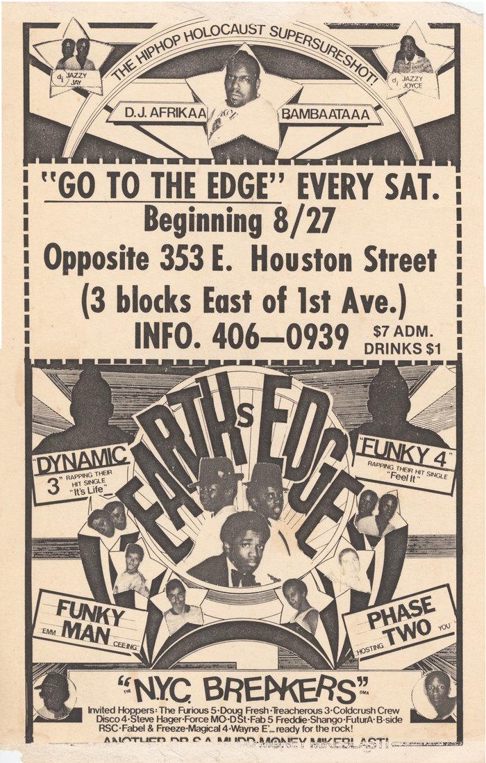 Earth's Edge flyer, Aug. 27, 1983
