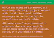 Be On The Right Side of History website