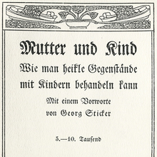 <cite>Mutter und Kind</cite> title page