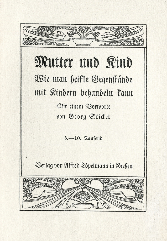 Mutter und Kind title page 1