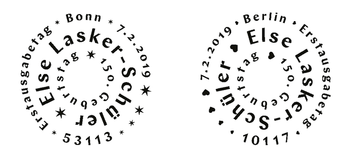 First Day of Issue postmarks for Bonn and Berlin