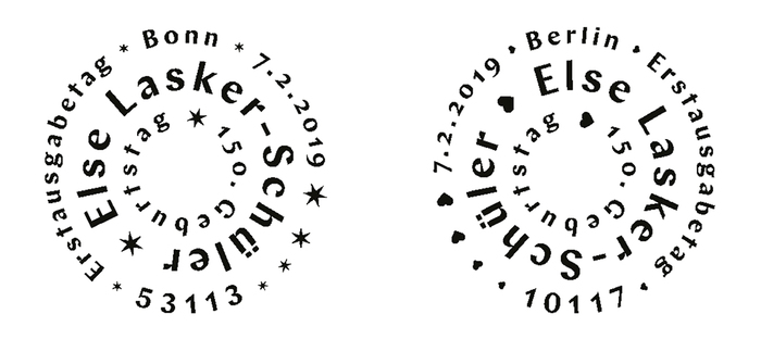 First Day of Issue postmarks for Bonn and Berlin.