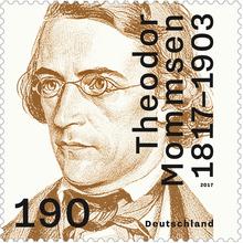 Theodor Mommsen stamp