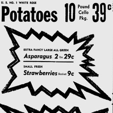 Grocery ads in <cite>Oxnard Press-Courier</cite>