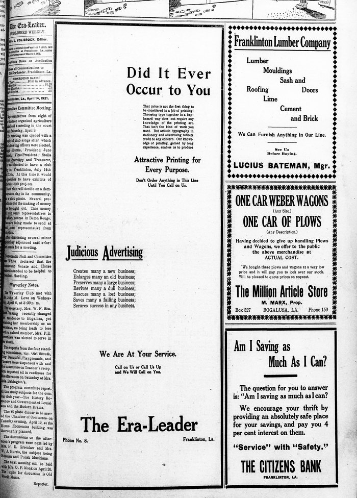 The Era-Leader: ad for advertising 2