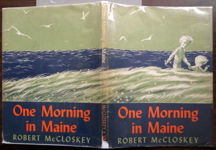 Title and author are repeated on the back of the jacket. The illustration wraps around.