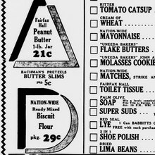 Nation-Wide Service Grocers ad, 1935