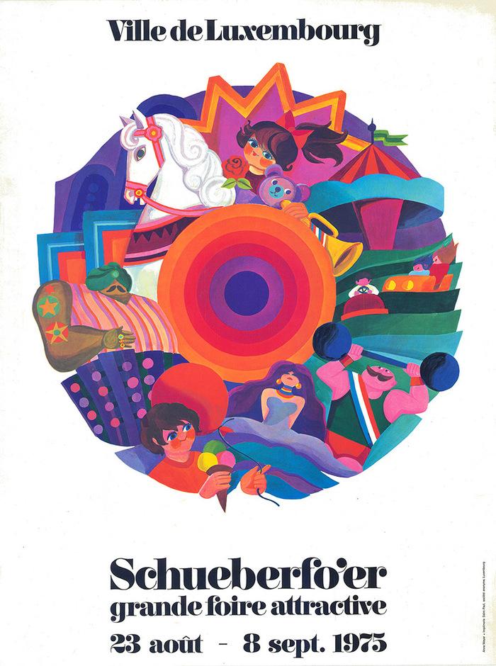Ville de Luxembourg Schueberfo'er 1975 poster