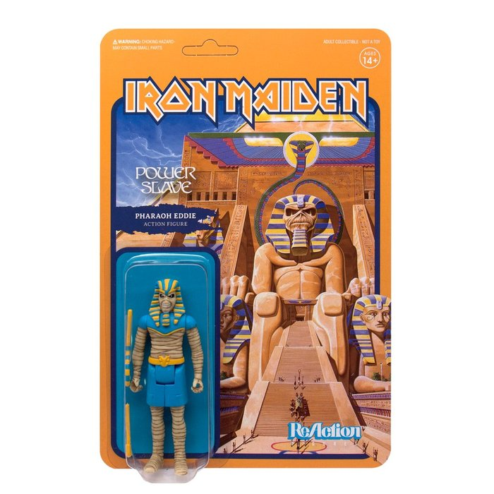 "Action figure — not from 1984. ""Powerslave"" uses Edda broken down and staggered, but with same lettershapes as the original artwork."