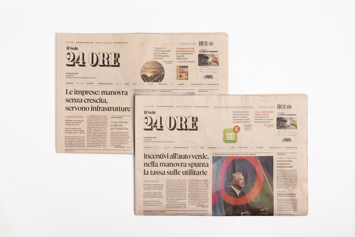 Il Sole 24 Ore front pages