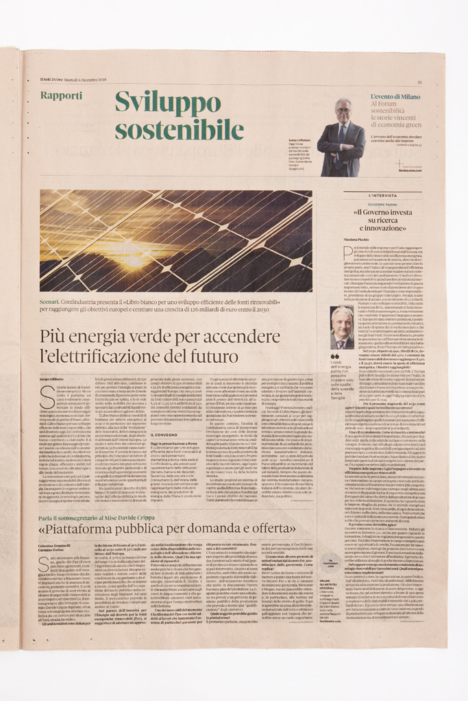 A Il Sole 24 Ore internal page