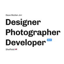 Dave Mullen Jnr portfolio website