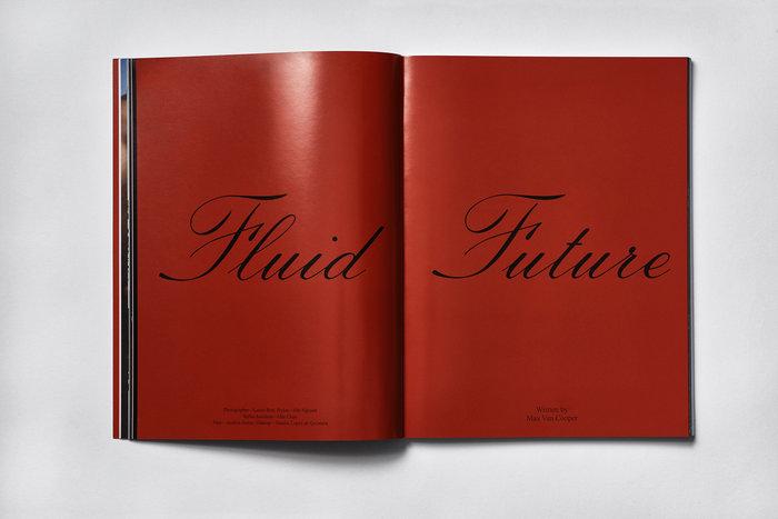 Fluid Future, set in Sackers Italian Script.