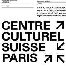 Centre culturel suisse. Paris
