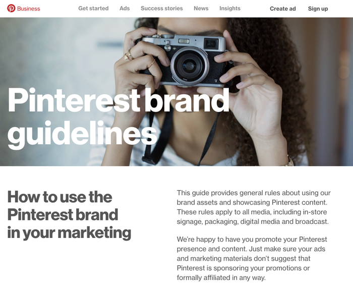 The corporate pages of the Pinterest website use  with its alternate round dots.