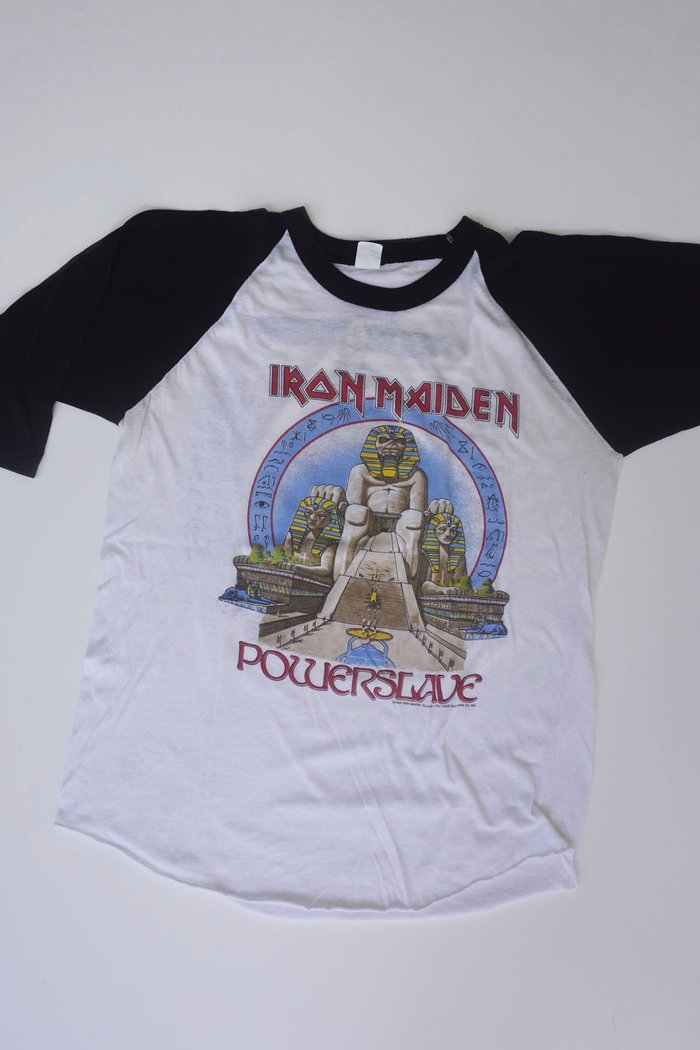 Iron Maiden Powerslave / World Slavery tour T-shirt, 1984.