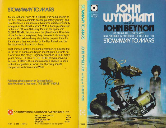 John Wyndham paperbacks (Coronet) 1