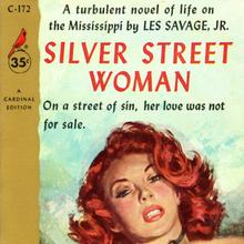 <cite>Silver Street Woman</cite> by Les Savage, Jr. (Cardinal)