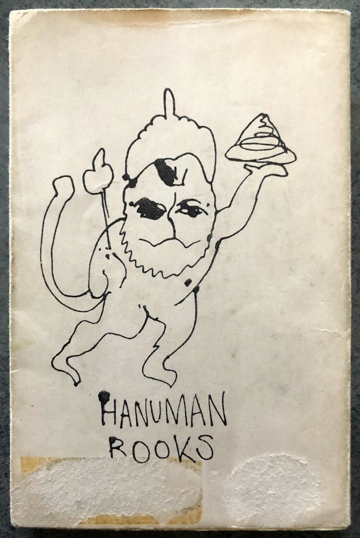 The Hanuman Books logo was drawn by Francesco Clemente. The monkey-like deity appears on the back of each volume.
