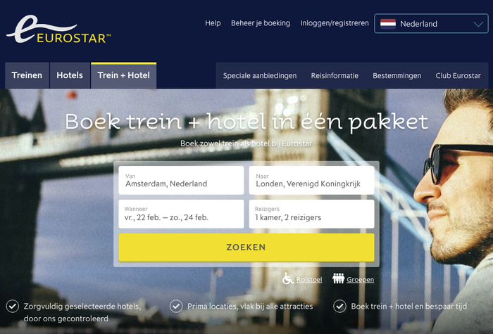 Dutch version of the website