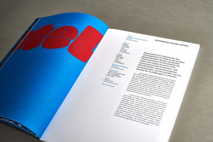 Jahresbericht 2010, Zürcher Hochschule der Künste 2