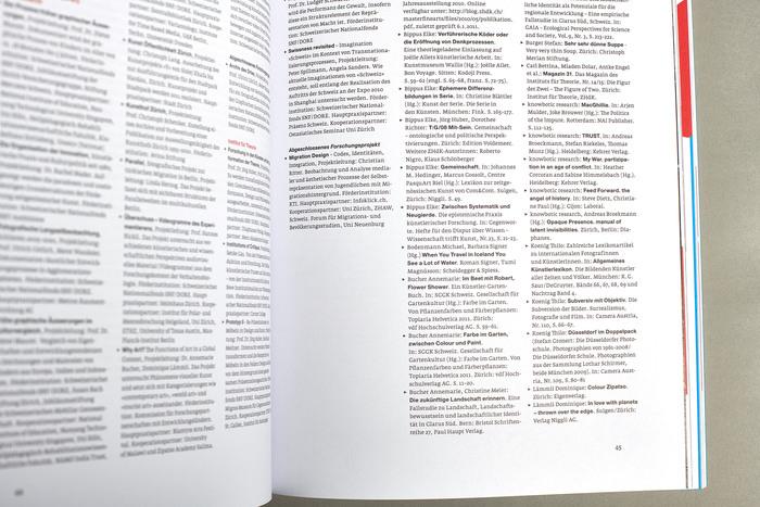 Jahresbericht 2010, Zürcher Hochschule der Künste 5
