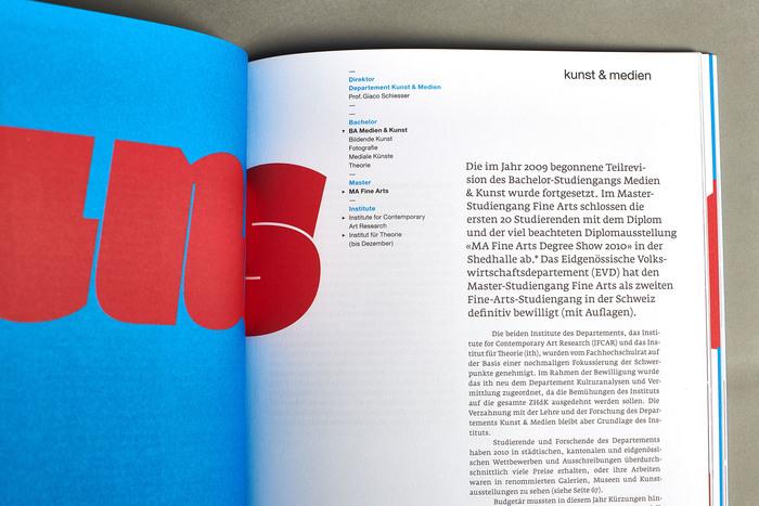 Jahresbericht 2010, Zürcher Hochschule der Künste 6